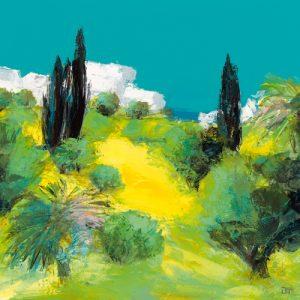 schilderij horizon bleu