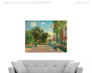 schilderij huis van de kunstenaar in argenteuil