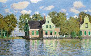 schilderij huizen aan het water zaandam