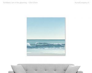 schilderij i am in the gleaming