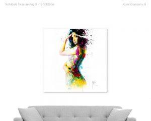 schilderij i was an angel