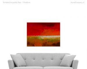 schilderij incredibly red