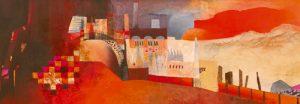 schilderij industrial landscape