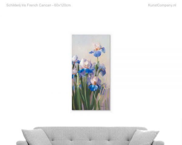 schilderij iris french cancan
