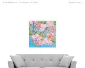 schilderij japanese cherry blossom