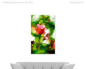 schilderij kaasjeskruid bloei