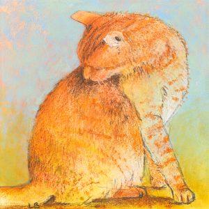 schilderij kat