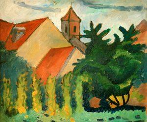schilderij kerk in kandern