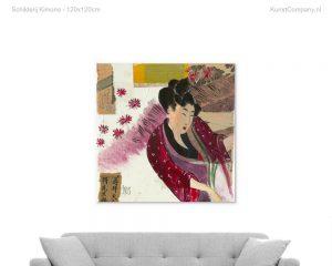 schilderij kimono