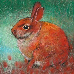 schilderij konijnen