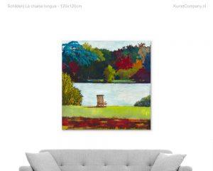 schilderij la chaise longue