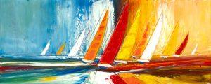 schilderij la course au vent v