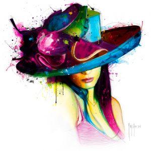 schilderij la jeune fille au chapeau