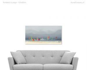 schilderij la plage