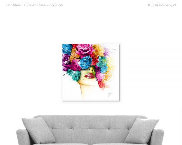 schilderij la vie en rose