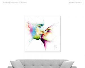 schilderij le baiser