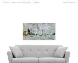schilderij le barche regate ad argenteuil