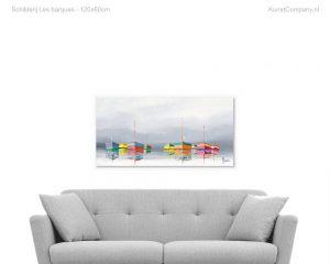 schilderij les barques