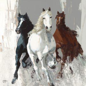 schilderij les chevaux i