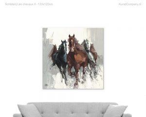 schilderij les chevaux ii