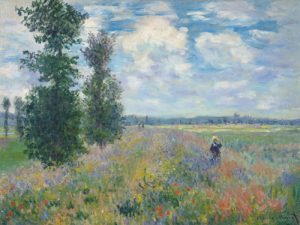 schilderij les coquelicots dintorni di argenteuil