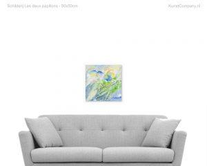 schilderij les deux papillons