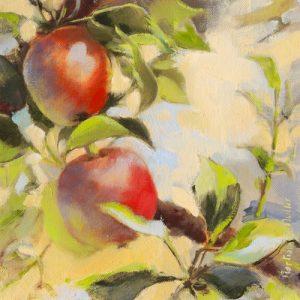 schilderij les pommes i