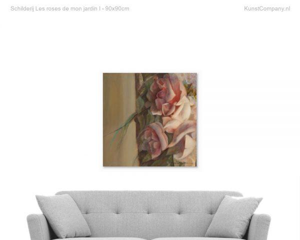schilderij les roses de mon jardin i