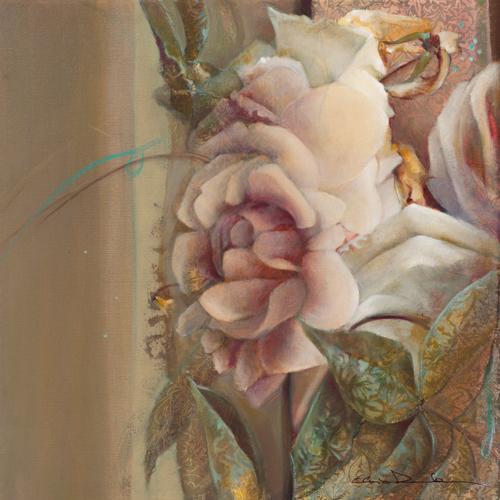 schilderij les roses de mon jardin ii