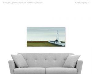 schilderij lighthouse at nash point iii