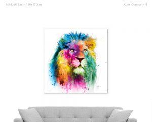 schilderij lion