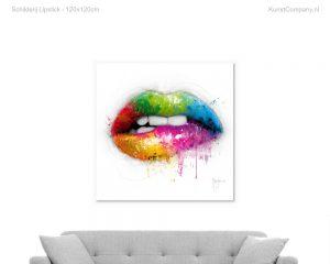 schilderij lipstick
