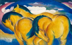 schilderij little yellow horses