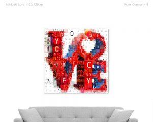 schilderij love