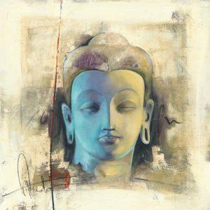 schilderij lumiere bleue