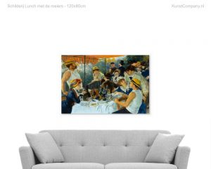 schilderij lunch met de roeiers