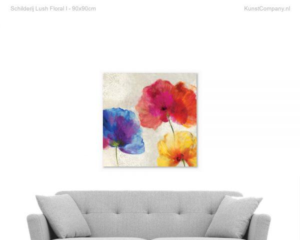 schilderij lush floral i