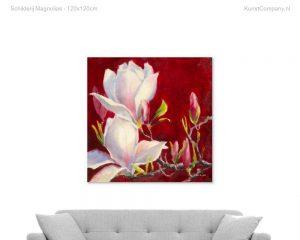 schilderij magnolias