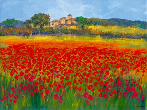 schilderij mallorca en primavera