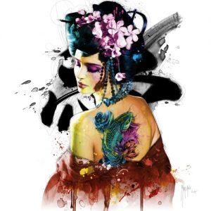schilderij memories of a geisha