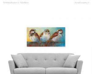 schilderij mussen