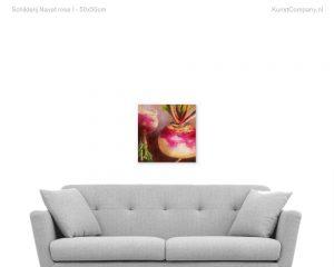 schilderij navet rose i