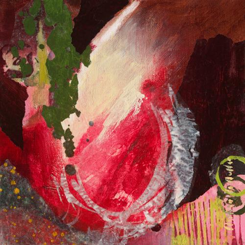 schilderij navet rose ii