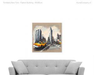 schilderij new york flatiron building