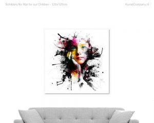 schilderij no war for our children