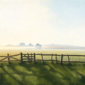 schilderij not just a little gate