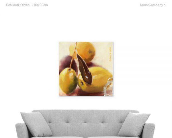 schilderij olives i