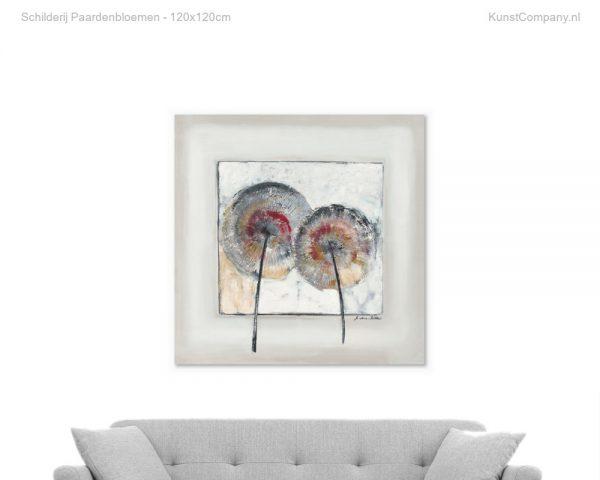 schilderij paardenbloemen