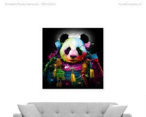schilderij panda samourai