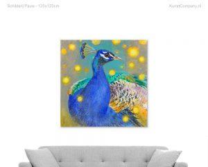 schilderij pauw